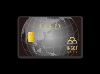 CC-003 【黒地球】クレジット型インゴットカード 1g(純金)