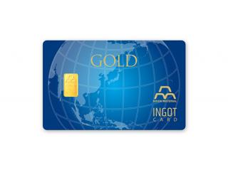 CC-001 【青地球】クレジット型インゴットカード 1g(純金)
