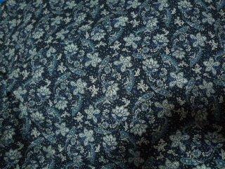 クリエピロー ブルー花柄ペイズリー