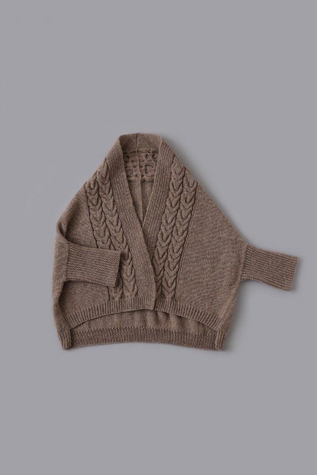 まっすぐ編みのドルマンカーディガン