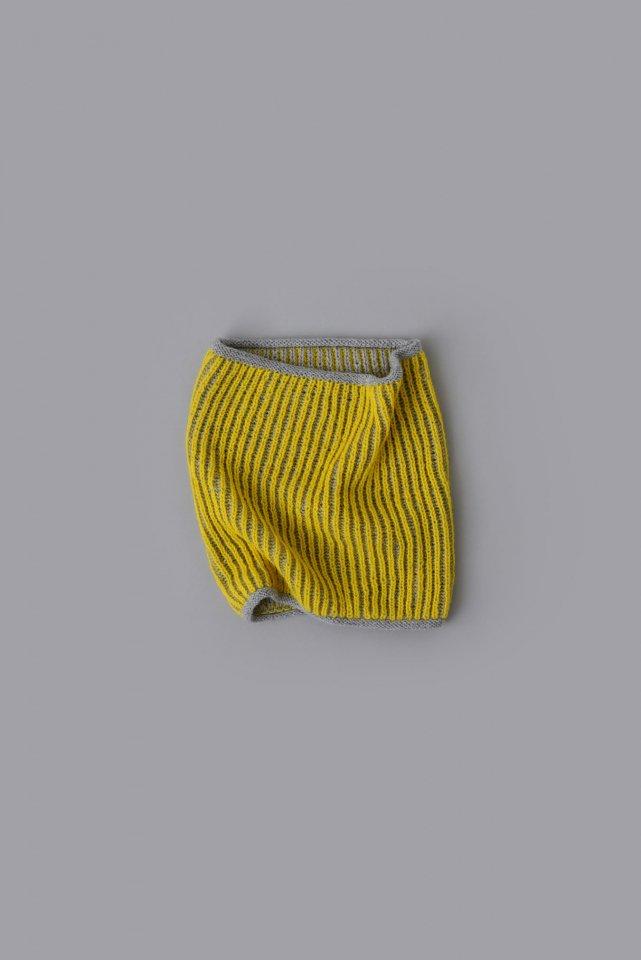 ブリオッシュ編みのネックウォーマー