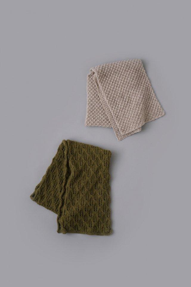 好きな模様で編むマフラー