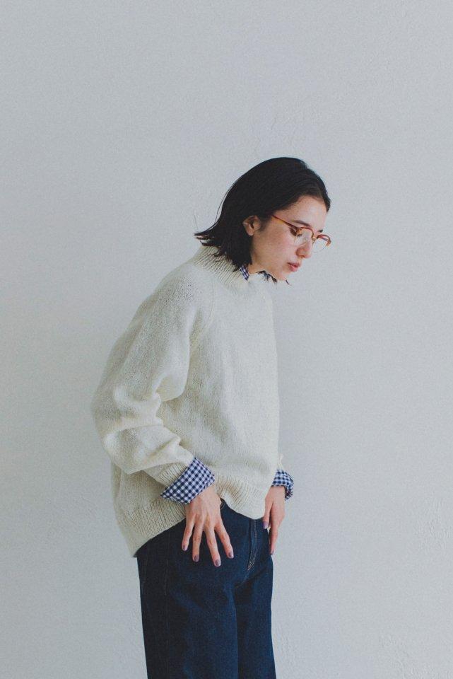 シェットランドのラグランワイドセーター キット