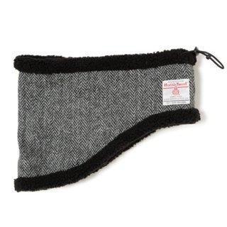 ネックウォーマー Harris Tweed ブラックヘリンボーン/フリーサイズ