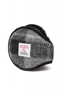 <img class='new_mark_img1' src='https://img.shop-pro.jp/img/new/icons8.gif' style='border:none;display:inline;margin:0px;padding:0px;width:auto;' />イヤーマフラー  HARRISTWEED  グレーチェック