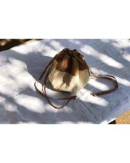 antiquelinen×organdy petal seam bag