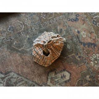 checkered antique fabric multi kinchaku