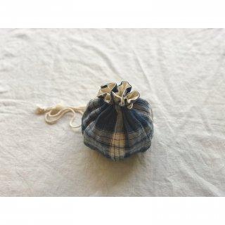 antiquelinen petal seam kinchaku(mini)