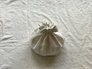 antiquelinen petal seam kinchaku (s)