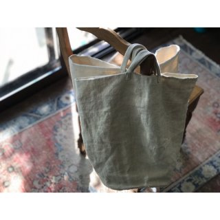 antiquelinen bucket tote bag