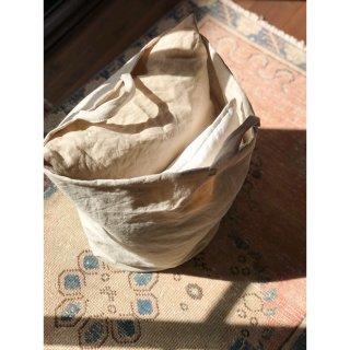 antique cottonlinen bucket tote bag (big)