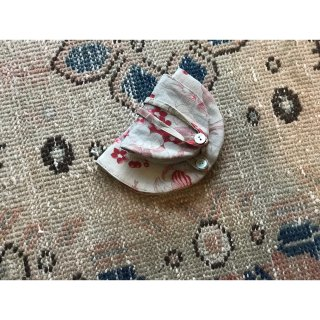 flower antique linen case 半月 L