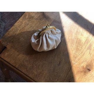 antique fabric  丸型ギャザーがま口