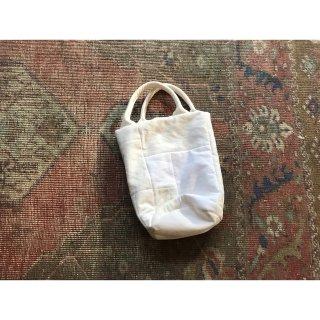 antique linen quilting patchwork tote bag