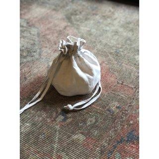 antiquelinen petal seam kinchaku (mini)