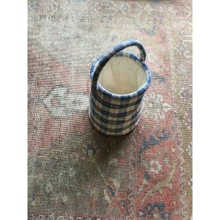 quilt antique linen bucket  bag �