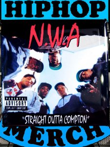 "NWA ""Straight Outta Compton"" Can Badge"