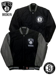 JH Brooklyn Nets Wool Two Tone Reversible Jacket