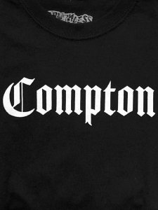 """RUTHLESS RECORDS, N.W.A. """"COMPTON"""" Official T-Shirt"""