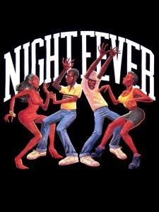 """Stillas""""NIGHT FEVER""""Champion T-Shirt"""
