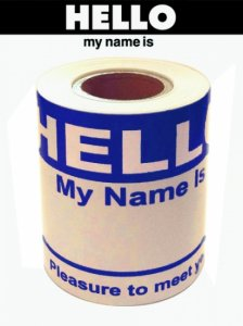 """HELLO my name is"" Stickers (Roll Type) 100pcs."