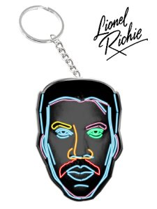 "Lionel Richie ""NEON FACE"" Official Key Chain"