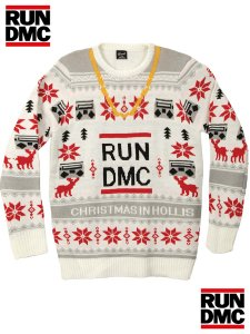 """Run DMC """"Chistmas In Hollis"""" Official Sweater"""
