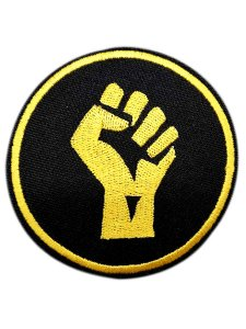 Black Power Circle Patch