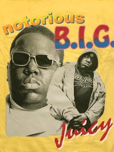 "The Notorious B.I.G. ""JUICY SUNGLASSES"" Vintage Style Official T-Shirt"
