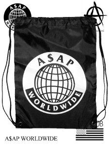 A$AP World Wide Official Logo DRAWSTRING BAG