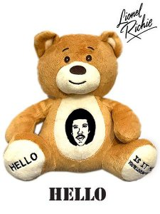 "Lionel Richie ""Hello"" Official Teddy Bear"