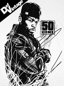 "【Def Vintage】 50 Cent ""Scribble"" Official T-Shirt"