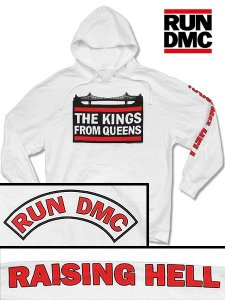 "Run DMC ""The Kings From Queens"" Vintage Style PO Hoodie"