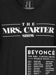 "Beyonce ""THE MRS. CARTER SHOW WORLD TOUR"" Official T-Shirt"