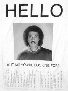 "Lionel Richie ""Hello"" US Tour T-Shirt"