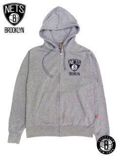 Brooklyn Nets Za Heathered Full Zip Hooded Sweatshirt