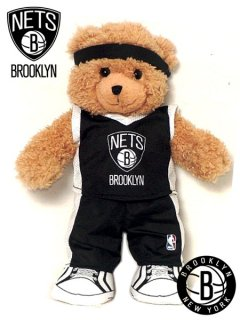 BROOKLYN NETS BASKETBALL TEAM TEDDY BEAR 14 INCHES