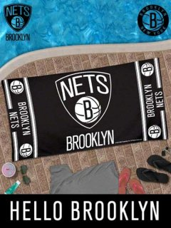 BROOKLYN NETS BEACH TOWEL