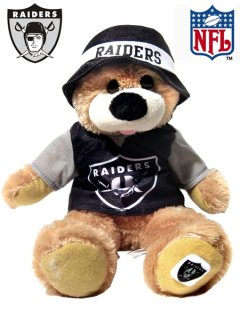 "OAKLAND RAIDERS 14"" BUCKET HAT BEAR"