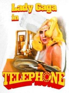LADY GAGA TELEPHONE T-SHIRT
