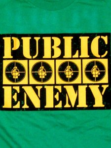 "Public Enemy ""Target On Green"" T-Shirt"