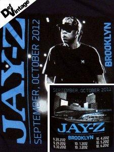 DEF VINTAGE Jay-Z 2012 Brooklyn Barclays Center Concert T-Shirt