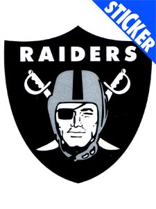 OAKLAND RAIDERS 3x4 NFL STATIC CLING