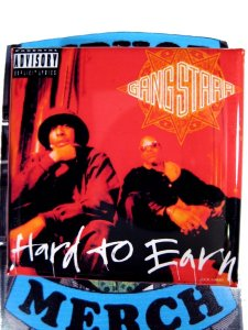 """Gang Starr """"Hard To Earn"""" Can Badge"""