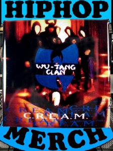 """Wu Tang Clan """"C.R.E.A.M."""" Can Badge"""