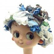 Vintage Flower Head Dress (ヴィンテージ フラワー ヘッドドレス) White×Blue