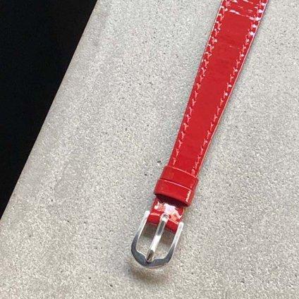 国内老舗ベルトメーカー別注 ROLEX CHAMELEON(ロレックス カメレオン)用ベルト Enamel Red