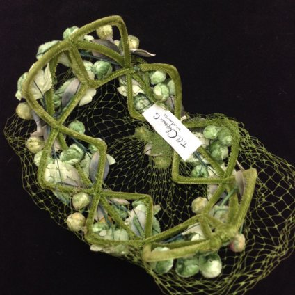 Vintage leaf Head Dress (ヴィンテージ リーフ ヘッドドレス) グリーン