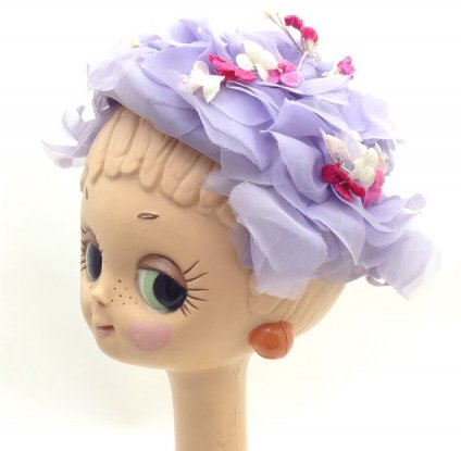 Vintage Flower Head Dress (ヴィンテージ フラワー ヘッドドレス) パープル