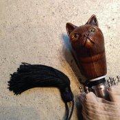 Guy de Jean (ギドゥジャン) 折りたたみ傘 猫 Beige